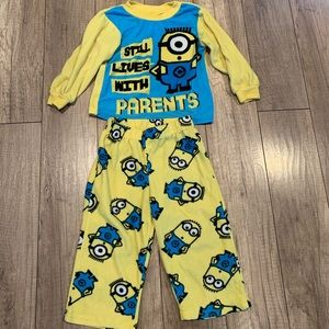 Minion long sleeve pajamas